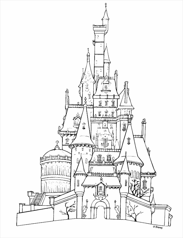 disney castle line drawing 40 tteaa