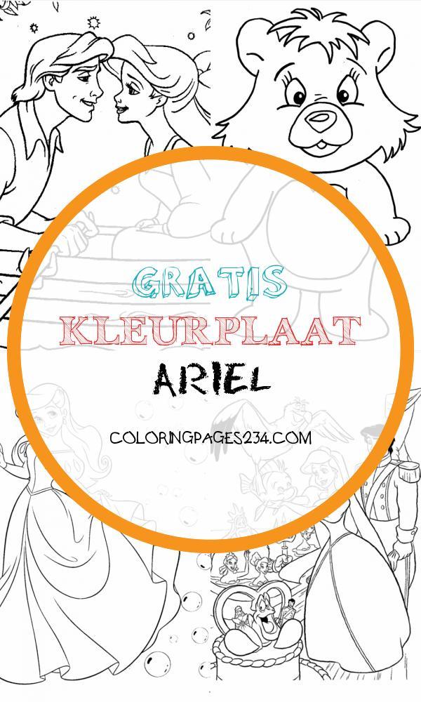 Kleine zeemeermin Kleurplaten DisneyKleurplaten gratis kleurplaat ariel, source:disneykleurplaten.com