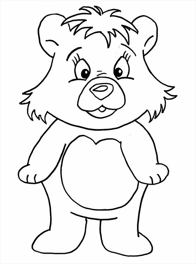 animated coloring pages bear image 0001 ooieu