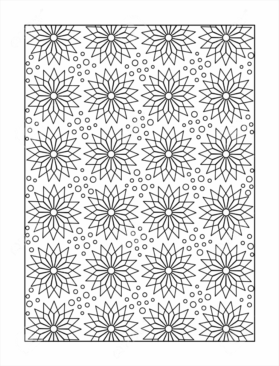 photo pattern coloring page for adults children ok too with whimsical stars or monochrome decorative bac tarxi