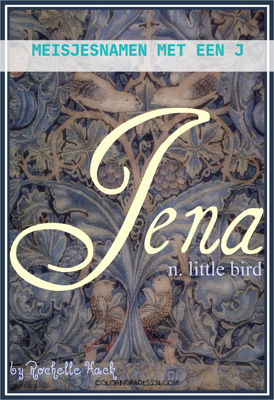 Baby Girl Name Jena Meaning Little Bird Origin Sanskrit meisjesnamen met een j, source:pinterest.com