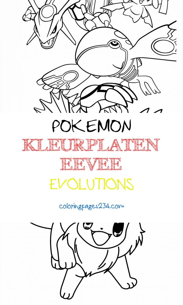 Pokemon Coloring Pages Join your favorite Pokemon on an pokemon kleurplaten eevee evolutions, source:bestcoloringpagesforkids.com