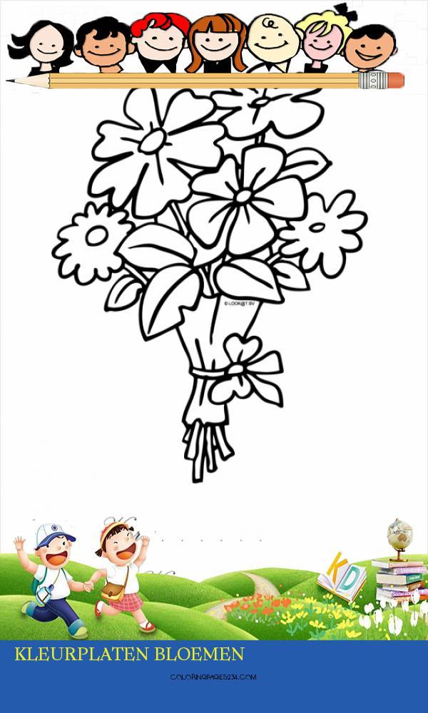 Kleurplaat Bos bloemen voor je valentijn Kleurplaten kleurplaten bloemen, source:kleurplaten.nl