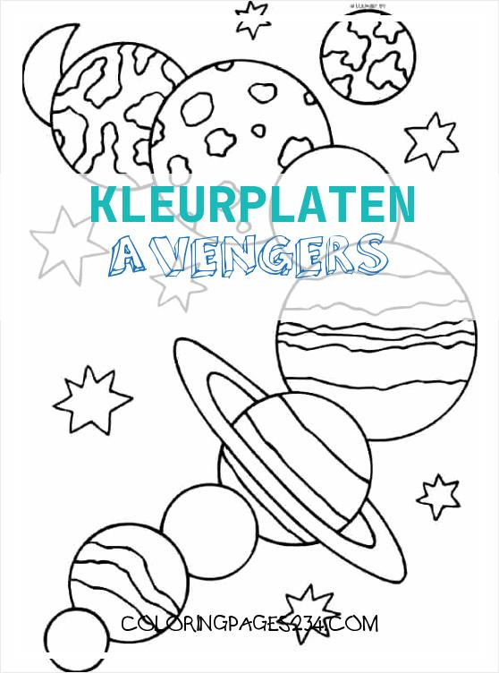 coloring pages free planets color the solar system colouring kleurplaten avengers, source:huangfei.info