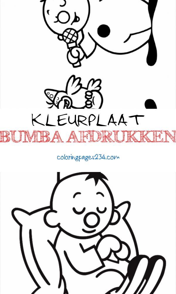 Bumba samen met een vriendje Bumba Kleurplaten kleurplaat bumba afdrukken, source:kleurplaat.com