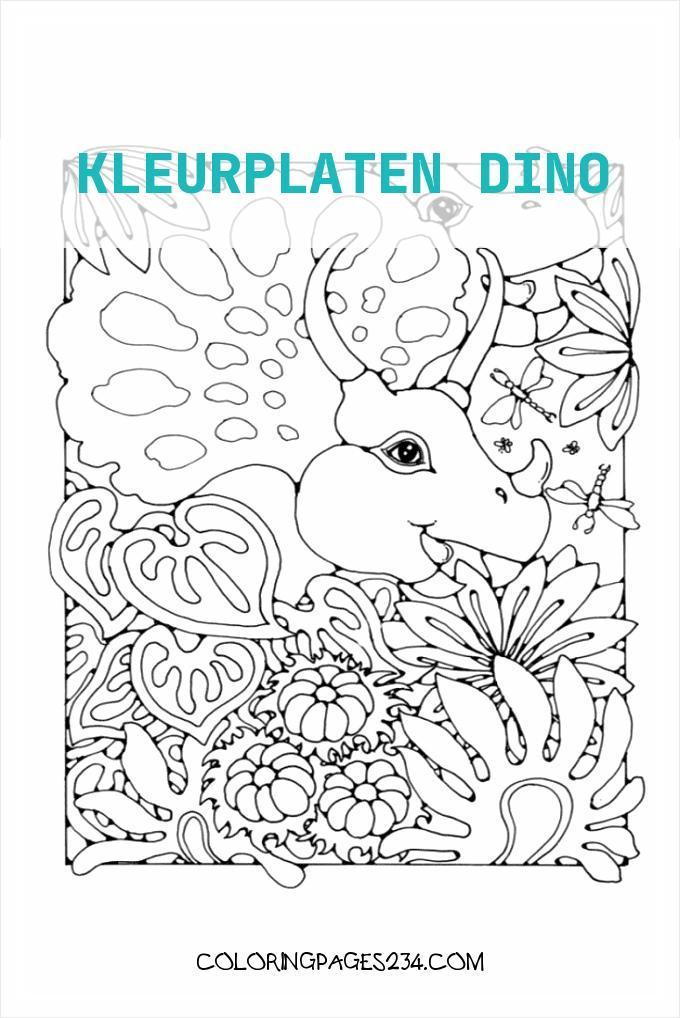 Dino Mandala kleurplaten dino, source:mandalakleurplaten.nl