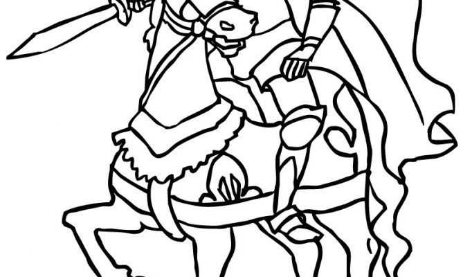 knight coloring book