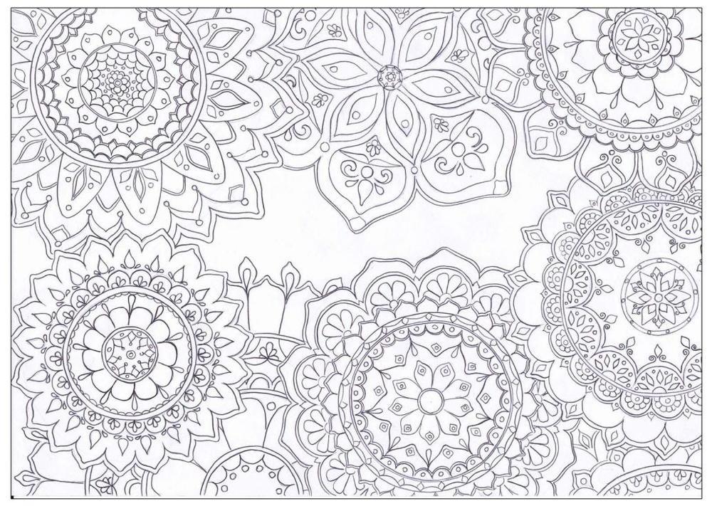 Mandala Flowers Coloring Page   FaveCrafts.com