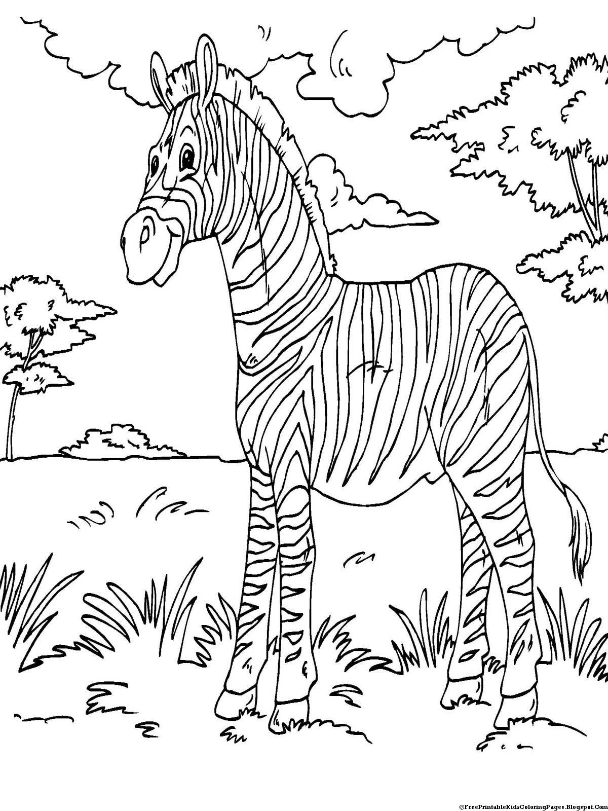 Zebra Coloring Pages - Free Printable Kids Coloring Pages