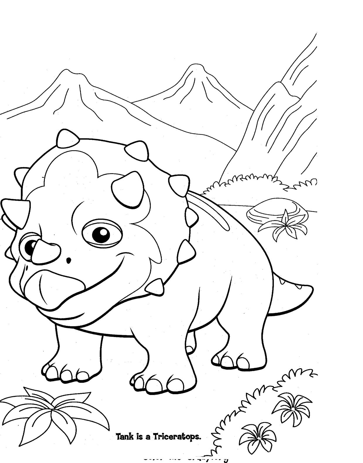 ColorMeCrazy.org: Dinosaur Train Coloring Pages