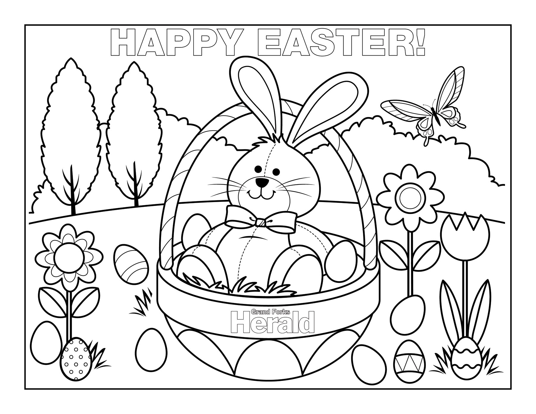 Easter Coloring Pages (3) - Coloring Kids