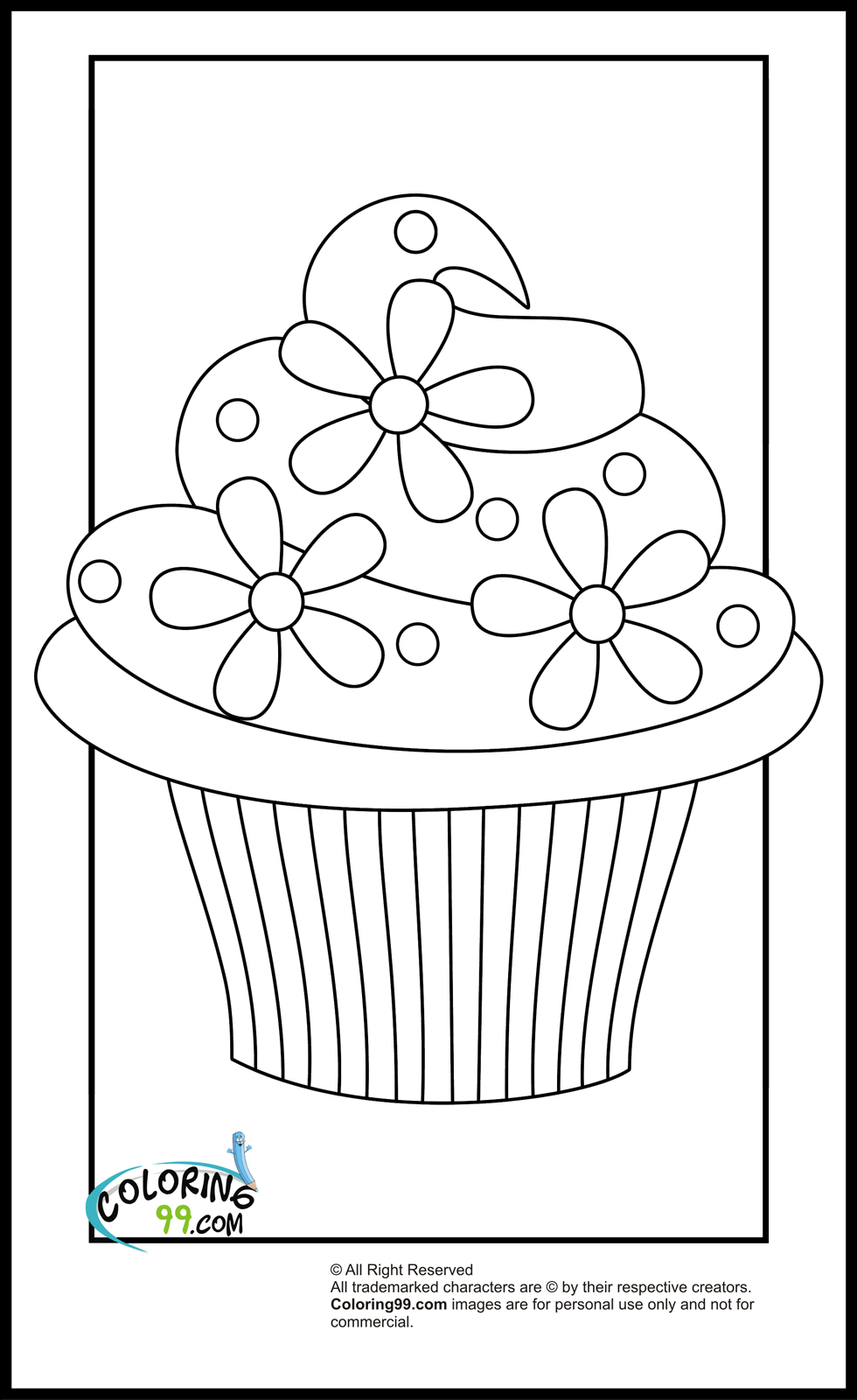 Cupcake Coloring Pages | Team colors