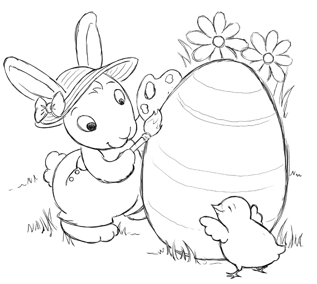 Printable coloring pages rabbit >> Disney Coloring Pages